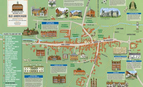 Amersham Society Town Map, 2018