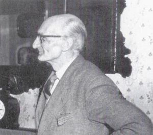 Mr. Bridgstock Choat, early chairman of the Society. 50 years of the Amersham Society, 2006