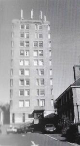 The nurses' home tower block which blotted the Old Town landscape many years. 50 years of the Amersham Society, 2006