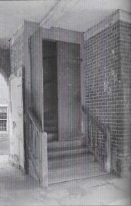 The steep access to the Market Hall. 50 years of the Amersham Society, 2006