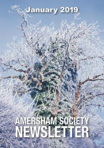 January 2019 Newsletter, cover photo of frosted ash by the naturalist John Tyler