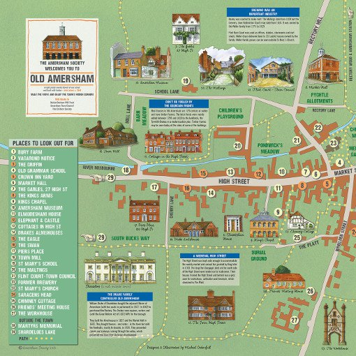 Download a printable copy of the Old Amersham Map