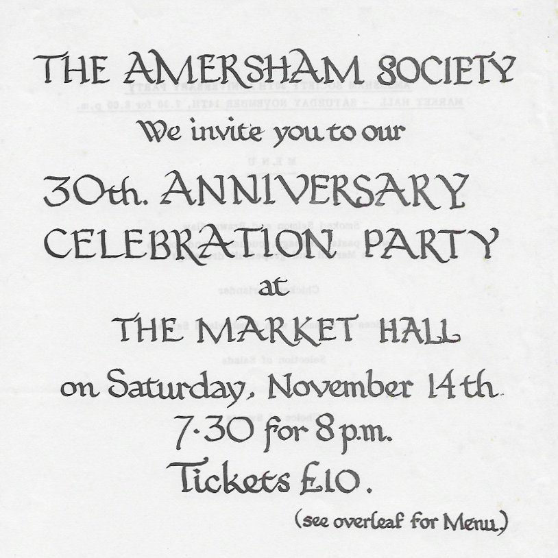 Invitation to the 30th Anniversary Celebration Party, 1987
