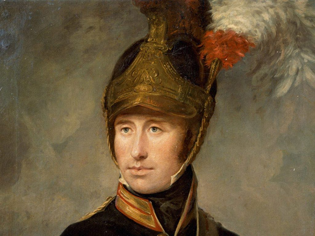 Captain Portrait of William Tyrwhitt Drake (fragment). Courtesy of the Council of the National Army MuseumWilliam Tyrwhitt Drake, Royal Horse Guards, 1815 (c)