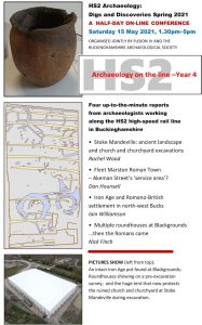 Bucks HS2 Archaeology: Year 4 @ Online